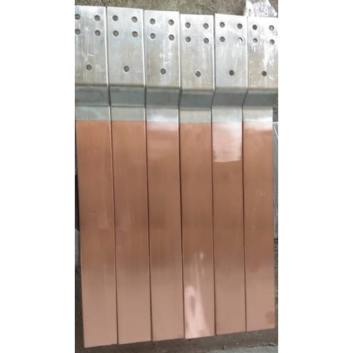 Fabricated Copper Busbars with Bend, Holes & Slotting